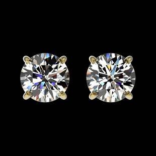 1.05 ctw Certified Quality Diamond Stud Earrings 10k