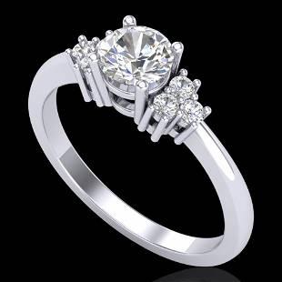 0.75 ctw VS/SI Diamond Ring 18k White Gold - REF-131N3F