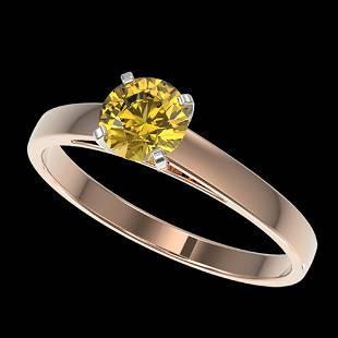 0.75 ctw Certified Intense Yellow Diamond Engagment