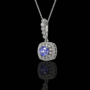 2.6 ctw Tanzanite & Diamond Victorian Necklace 14K