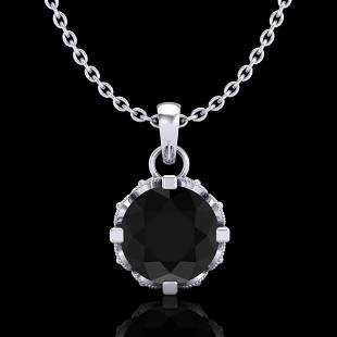 0.85 ctw Fancy Black Diamond Art Deco Stud Necklace 18k