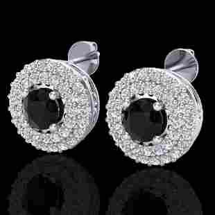1.40 ctw Micro VS/SI Diamond Designer Earrings DOUBLE