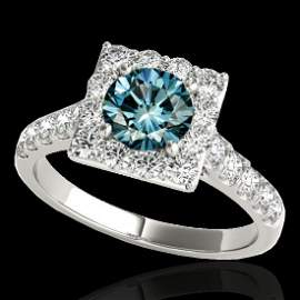 Genuine 2.0 CTW Certified Fancy Blue Genuine Diamond