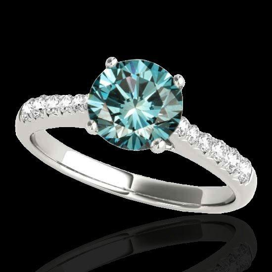Genuine 1.25 CTW Certified Fancy Blue Genuine Diamond