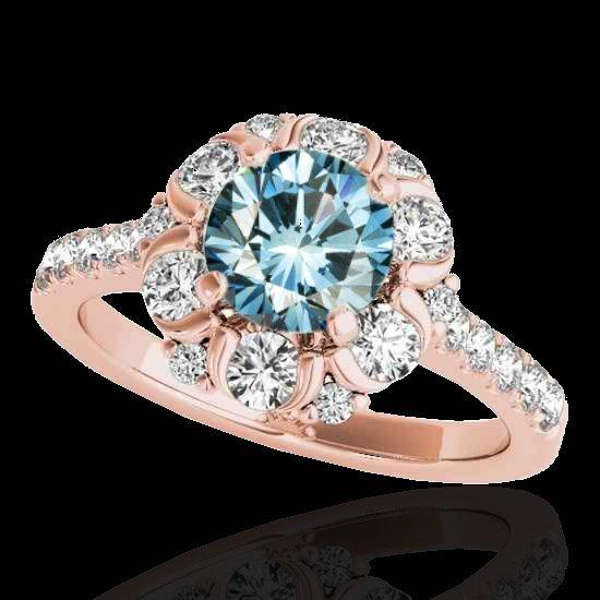 Genuine 2.05 CTW Certified Fancy Blue Genuine Diamond