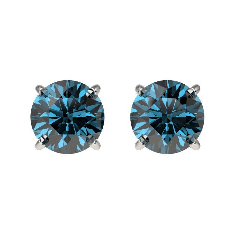 Genuine 1.08 CTW Certified Intense Blue Genuine Diamond