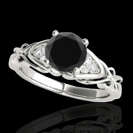Genuine 1.10 CTW Certified Black Genuine Diamond