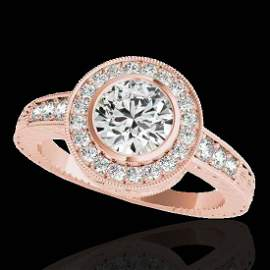 Genuine 1.35 CTW Certified G-I Genuine Diamond Bridal