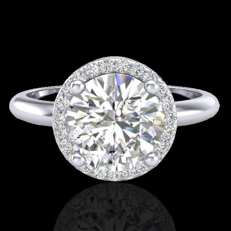 Genuine 2.0 CTW Micro Pave Diamond Certified Ring