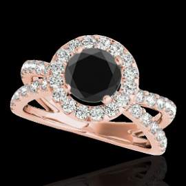 Genuine 2.01 CTW Certified Black Genuine Diamond Bridal