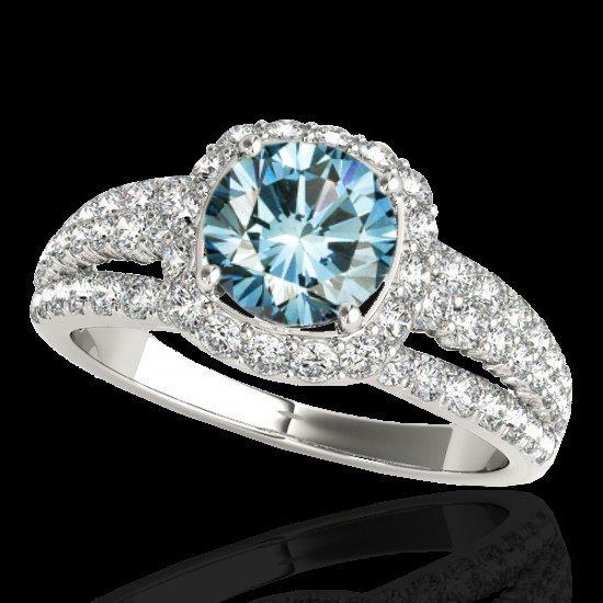 Genuine 2.0 CTW Certified Fancy Blue Genuine Diamond