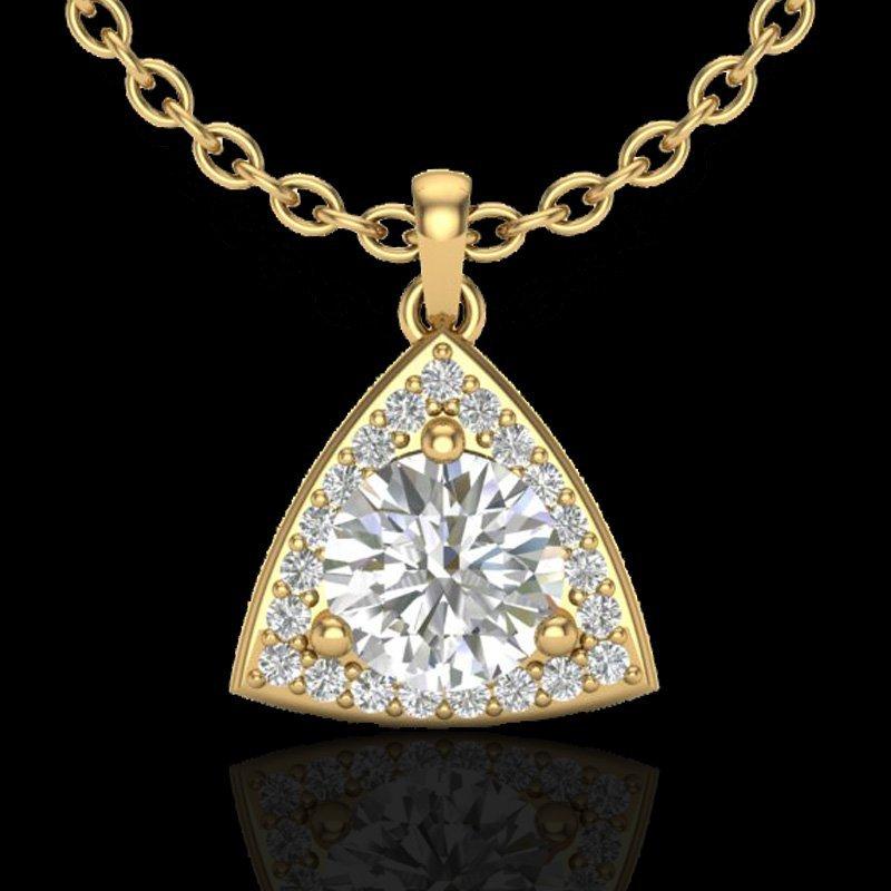 Genuine 1.50 CTW Micro Pave Halo Solitaire Diamond