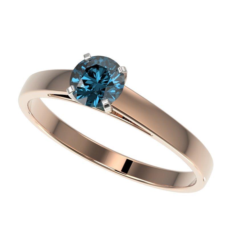 Genuine 0.50 CTW Certified Intense Blue Genuine Diamond