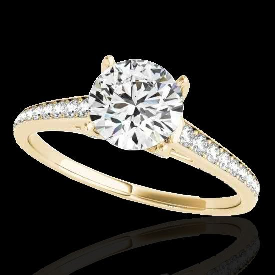 Genuine 2.0 CTW Certified G-I Genuine Diamond Solitaire