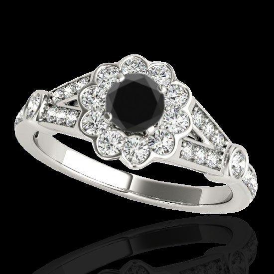 Genuine 1.90 CTW Certified Black Genuine Diamond Bridal