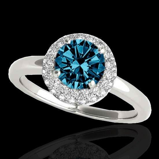 Genuine 1.43 CTW Certified Fancy Blue Genuine Diamond