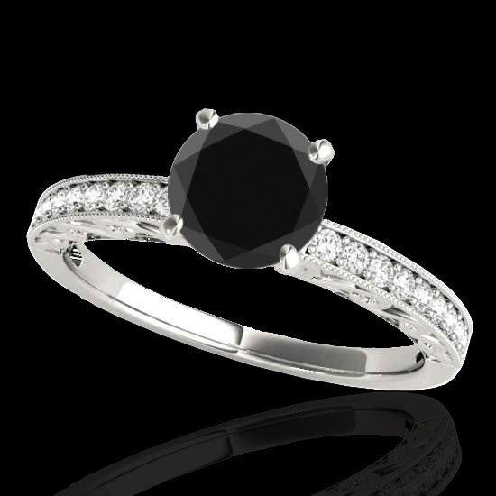 Genuine 1.43 CTW Certified Black Genuine Diamond