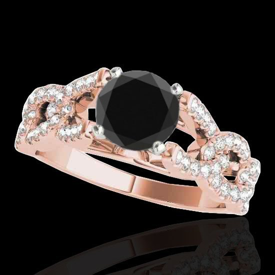 Genuine 1.50 CTW Certified Black Genuine Diamond
