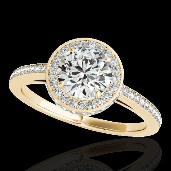 Genuine 1.55 CTW Certified G-I Genuine Diamond Bridal