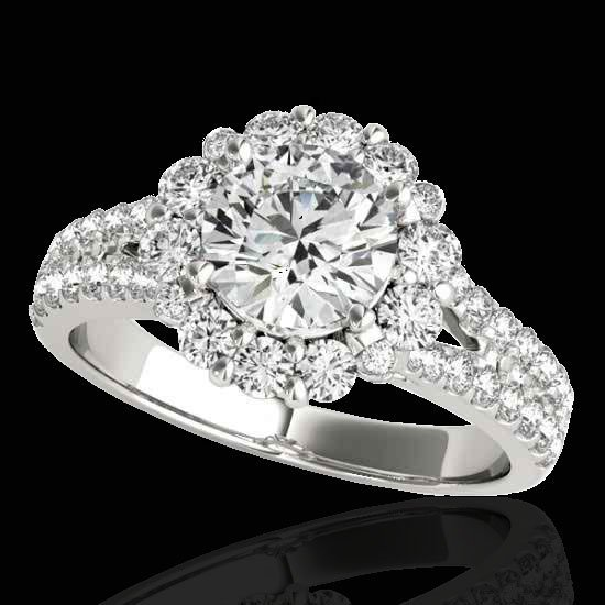 Genuine 2.51 CTW Certified G-I Genuine Diamond Bridal
