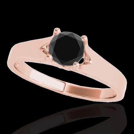 Genuine 1.0 CTW Certified Black Genuine Diamond