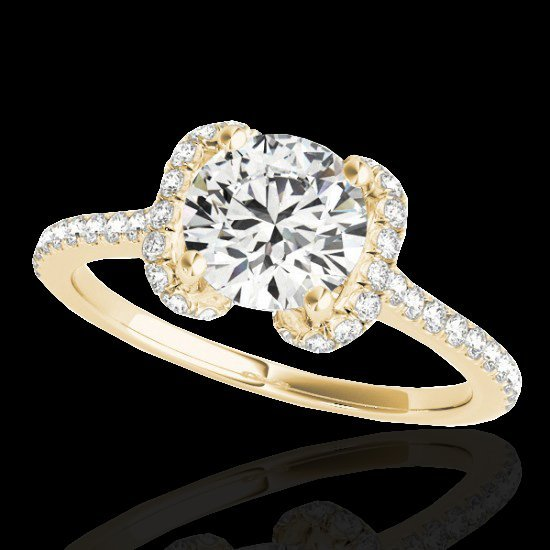 Genuine 1.33 CTW Certified G-I Genuine Diamond Bridal - 2