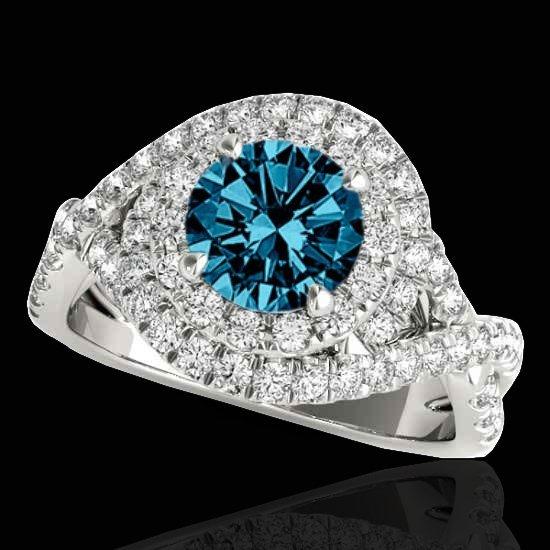 Genuine 1.75 CTW Certified Fancy Blue Genuine Diamond