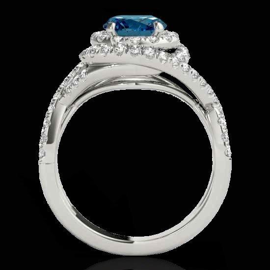 Genuine 1.75 CTW Certified Fancy Blue Genuine Diamond - 2