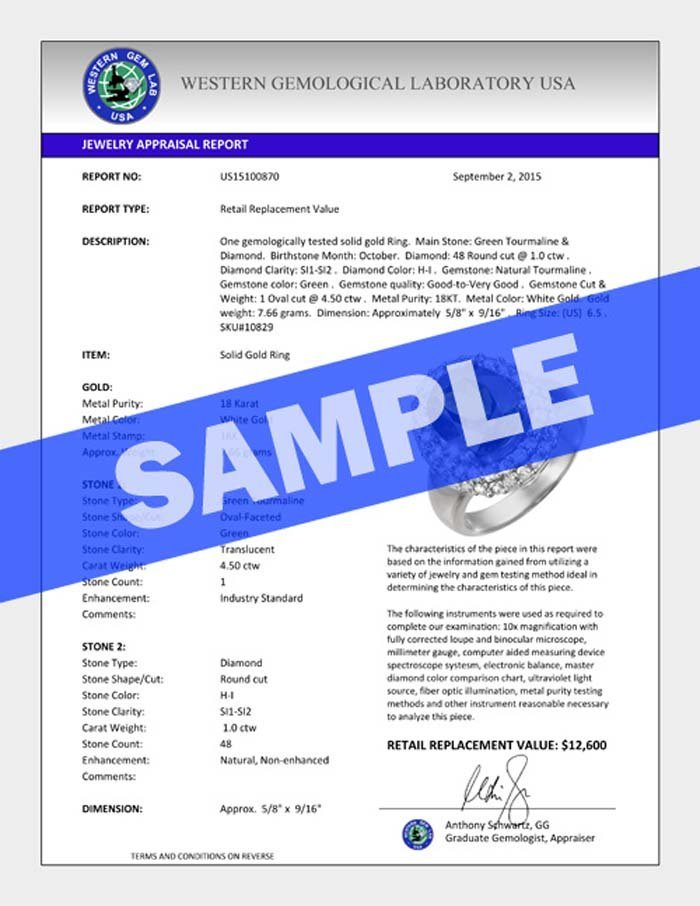 Genuine 1.75 CTW Certified Fancy Blue Genuine Diamond - 3