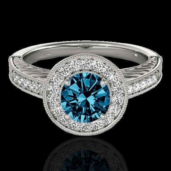 Genuine 1.50 CTW Certified Fancy Blue Genuine Diamond