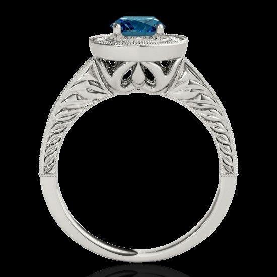 Genuine 1.50 CTW Certified Fancy Blue Genuine Diamond - 2