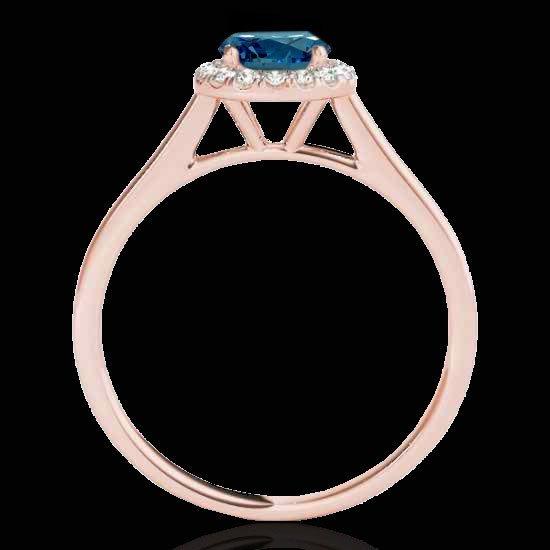 Genuine 1.11 CTW Certified Fancy Blue Genuine Diamond - 2