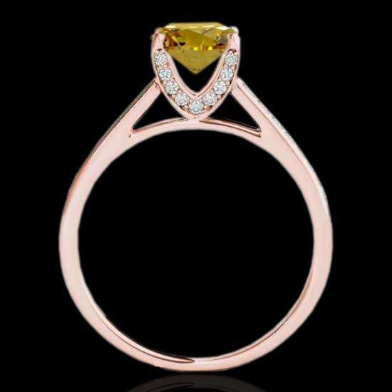 Genuine 2.0 CTW Certified Fancy Intense Genuine Diamond - 2