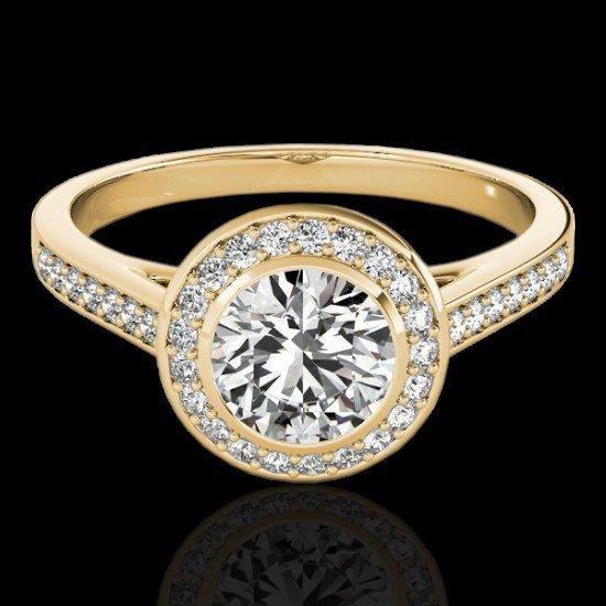 Genuine 1.30 CTW Certified G-I Genuine Diamond Bridal