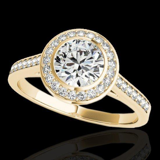 Genuine 1.30 CTW Certified G-I Genuine Diamond Bridal - 2