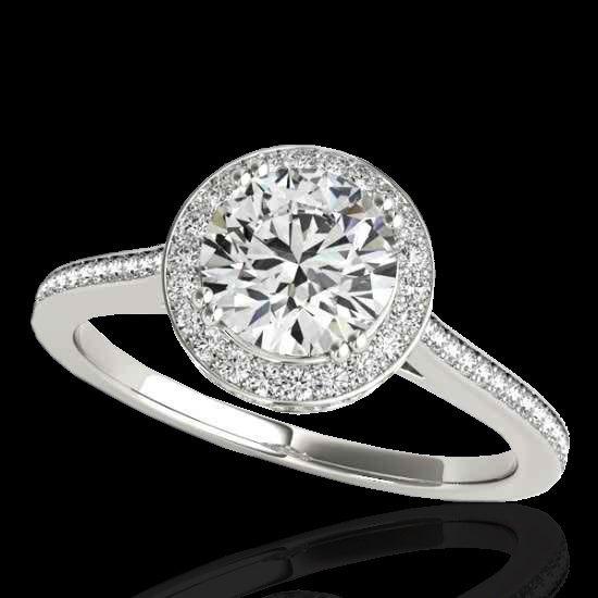 Genuine 1.55 CTW Certified G-I Genuine Diamond Bridal