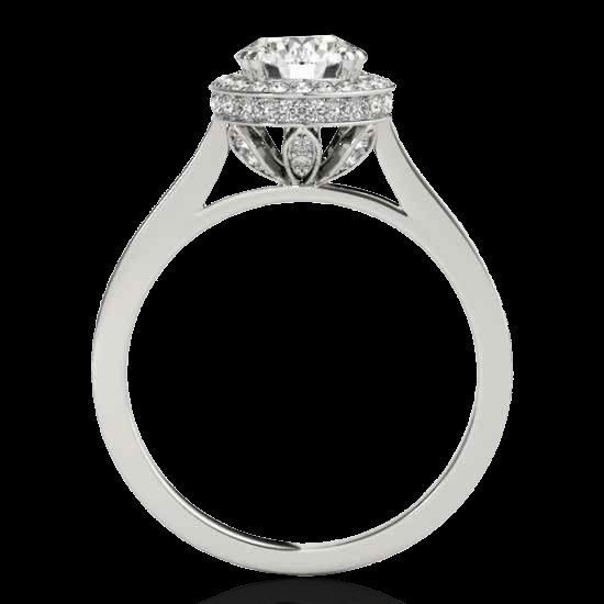 Genuine 1.55 CTW Certified G-I Genuine Diamond Bridal - 2