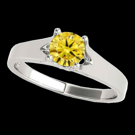 Genuine 1.0 CTW Certified Fancy Intense Genuine Diamond