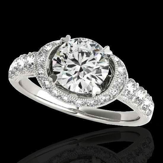 Genuine 1.75 CTW Certified G-I Genuine Diamond Bridal