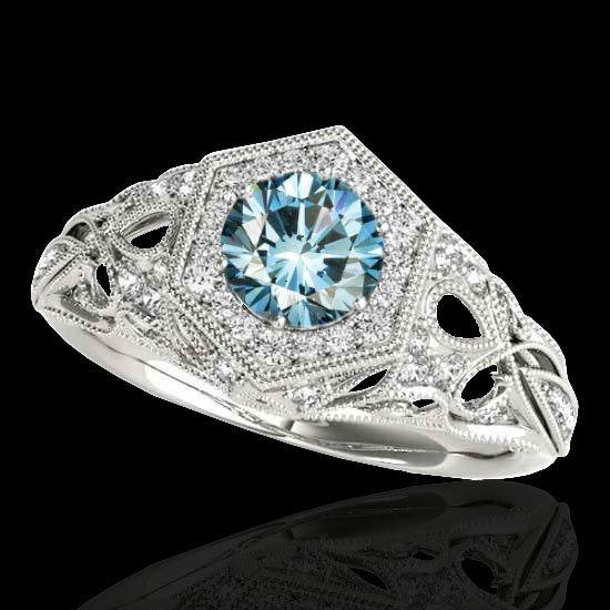 Genuine 1.40 CTW Certified Fancy Blue Genuine Diamond