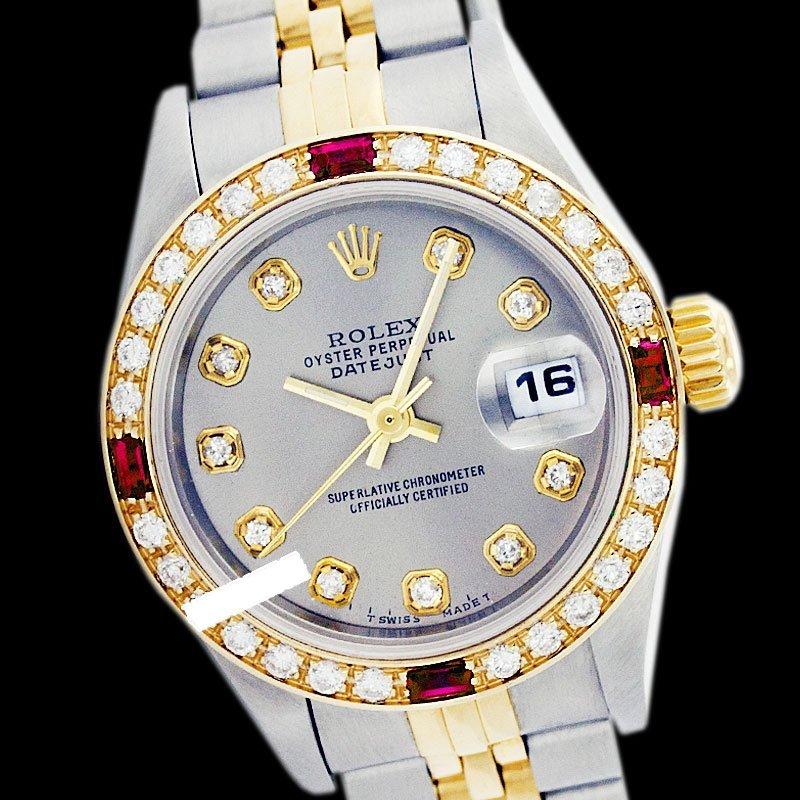 Rolex Men's 2Tone 14K Gold/ SS, QuickSet, Diam Dial &