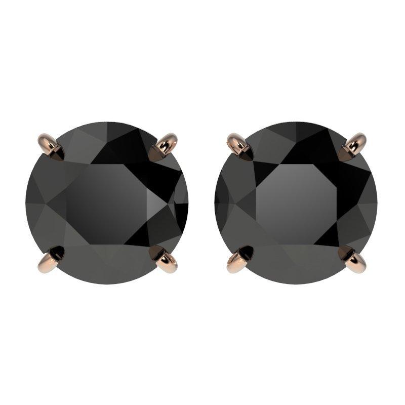 Genuine 2.60 CTW Fancy Black Genuine Diamond Bridal