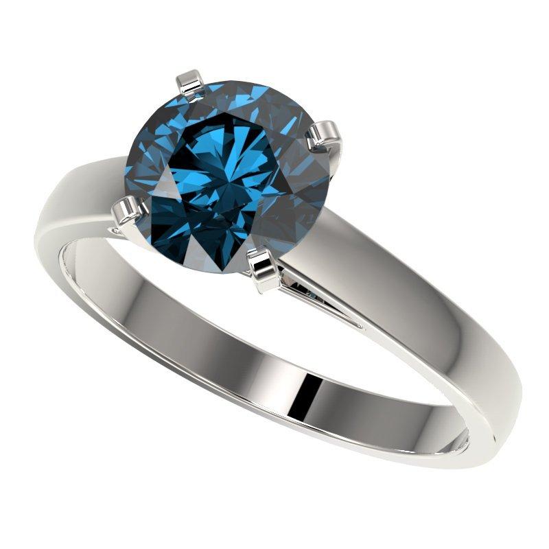 Genuine 2.04 CTW Certified Intense Blue Genuine Diamond