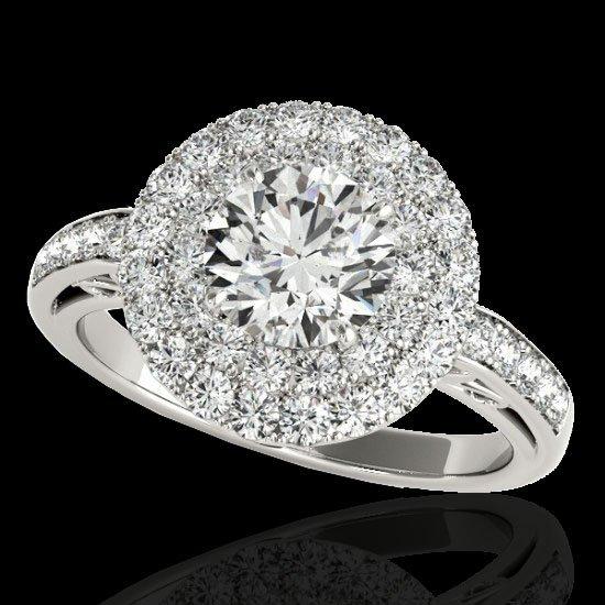 Genuine 2.25 CTW Certified G-I Genuine Diamond Bridal