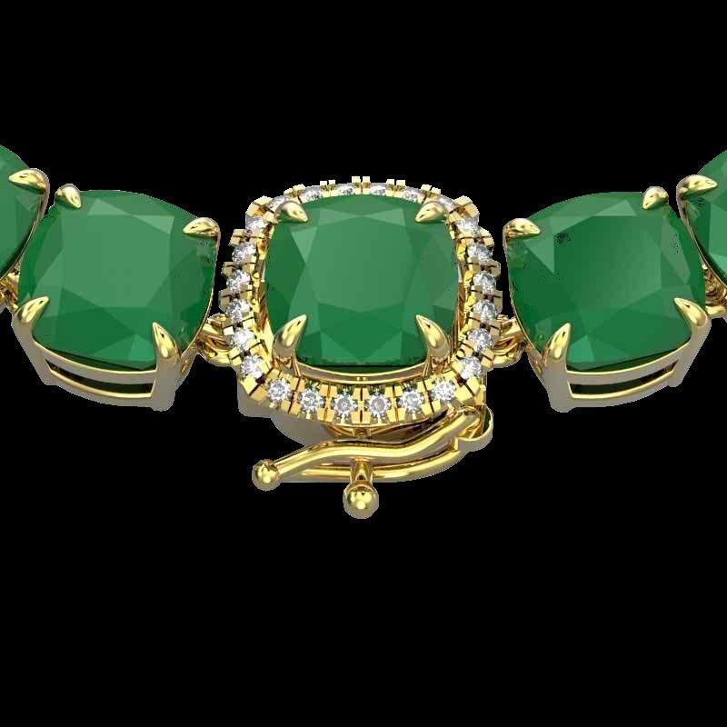 Genuine 116 CTW Emerald & Diamond Halo Micro Solitaire