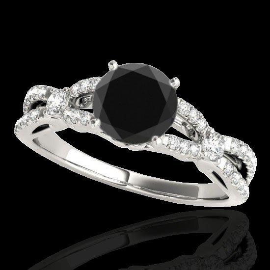 Genuine 1.35 CTW Certified Black Genuine Diamond