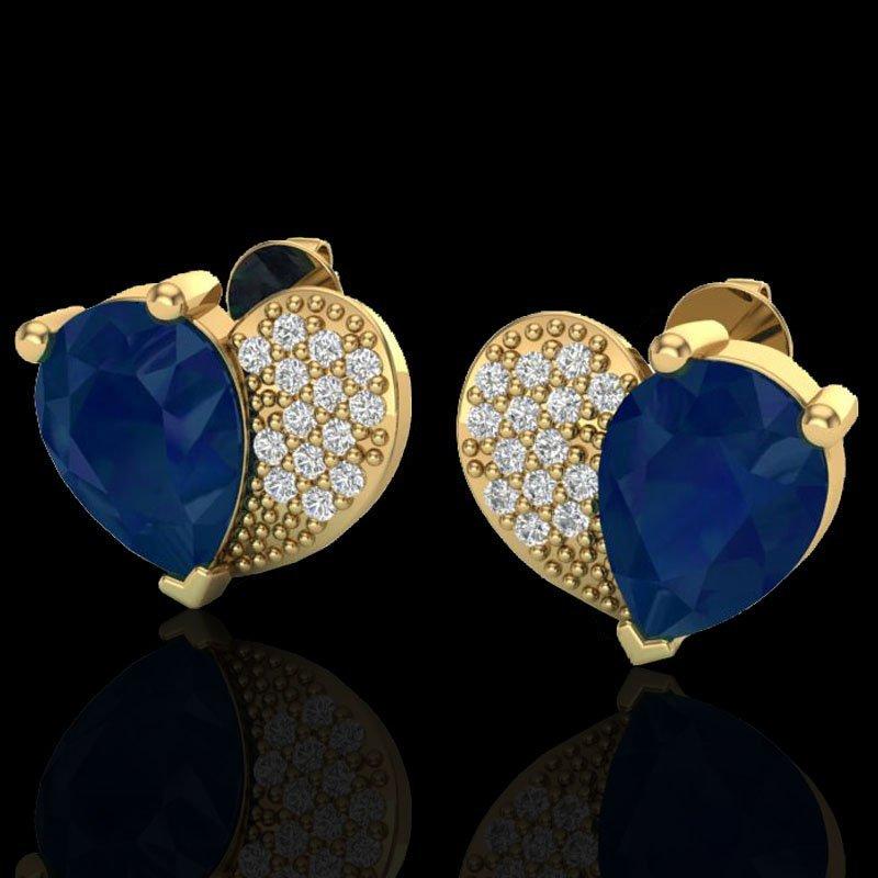 Natural 2.50 CTW Sapphire & Micro Pave Diamond