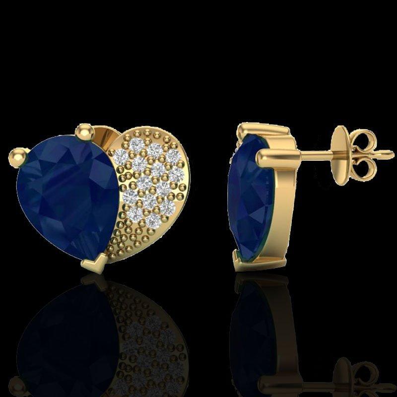Natural 2.50 CTW Sapphire & Micro Pave Diamond - 2