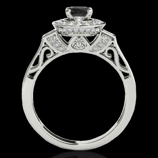 Genuine 1.75 CTW Certified Black Genuine Diamond Bridal - 2