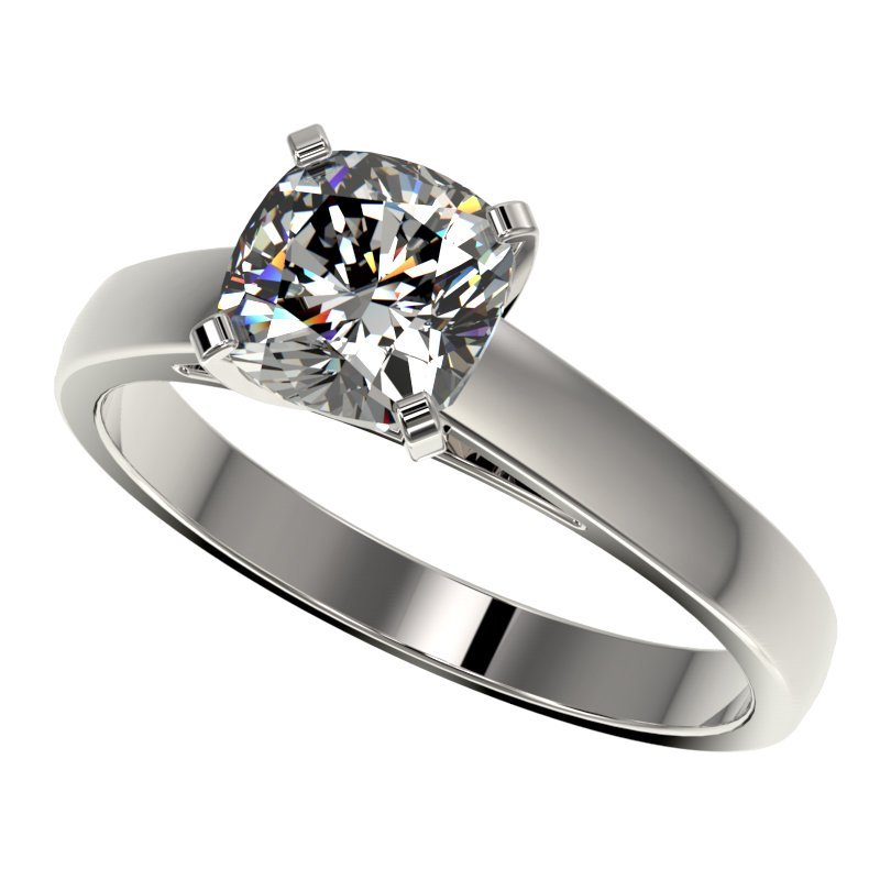 Genuine 1.25 CTW Certified Quality Cushion Cut Genuine